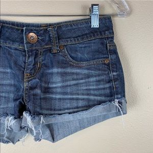 • Guess Jeans • Low Rise Denim Cut Off Shorts